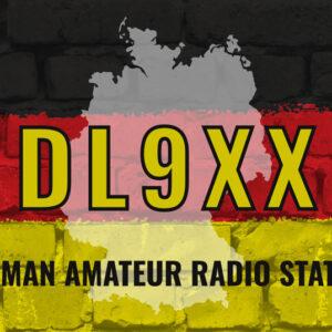 QSL-Karten Vorlage mit Deutschland-Motiv